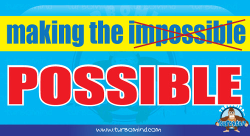 Turbomind, making the impossible possible poster,  http://www.turbomind.com