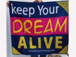 Keep your dream alive Inspirational handmade mola for sale at turbomind.com wassap 507-62463797,