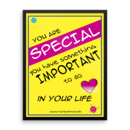 """You are special"" Framed photo paper poster (18×24)"