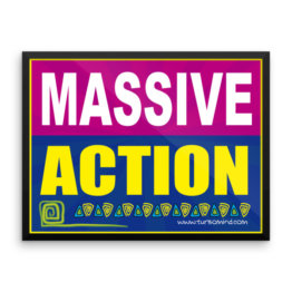 """Massive Action"" Framed photo paper poster (24×18)"