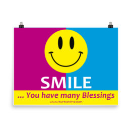 SMILE, you have many blessings, (24×18)