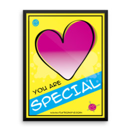 """You are special"" Framed photo paper poster"