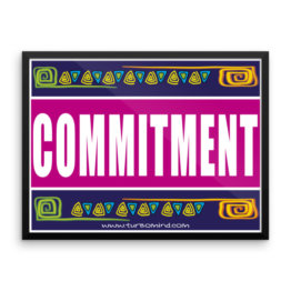 """Commitment"" Framed photo paper poster"
