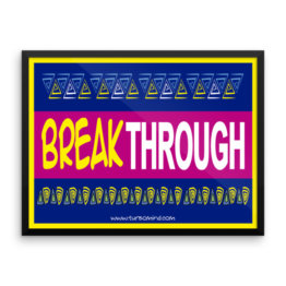 """Breakthrough"" Framed photo paper poster (24×18)"