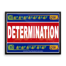 """Determination"" Framed photo paper poster"