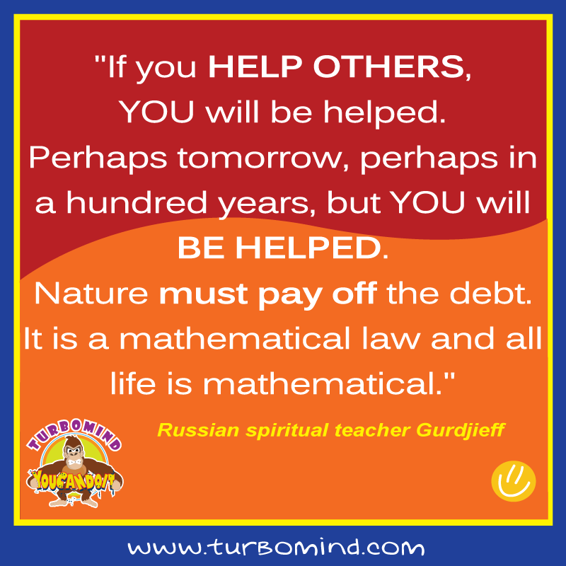 Turbomind daily inspiration, www.turbomind.com, help others