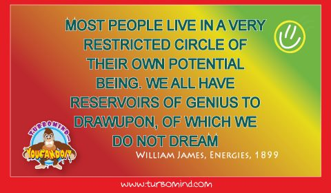 """Most People live in a very restricted circle of their own Potential Being"