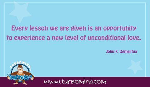 Every lesson we are given is an opportunity to experience a new level of unconditional love. John F. Demartini