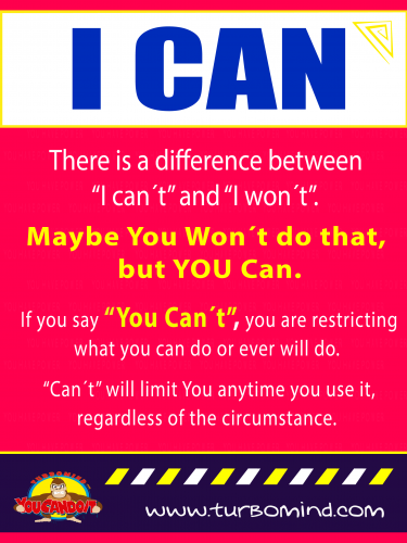 There is a Difference Between I CAN´T and I WON´T