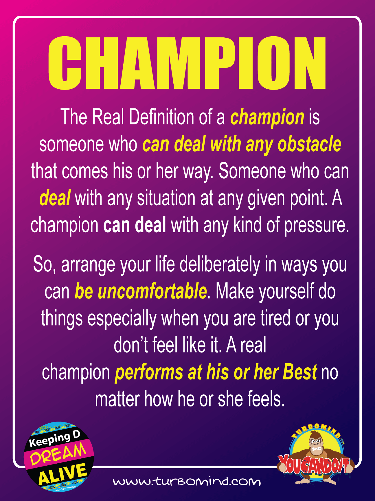 THE REAL DEFINITION OF A CHAMPION