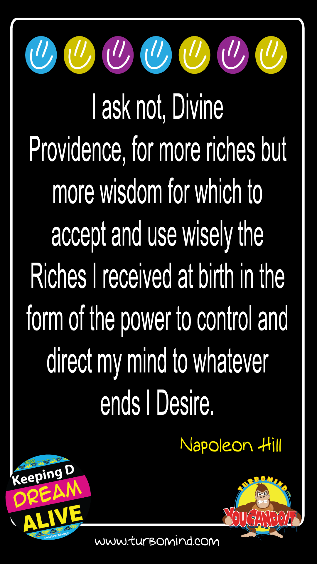 I DON´T ASK FOR MORE RICHES BUT….
