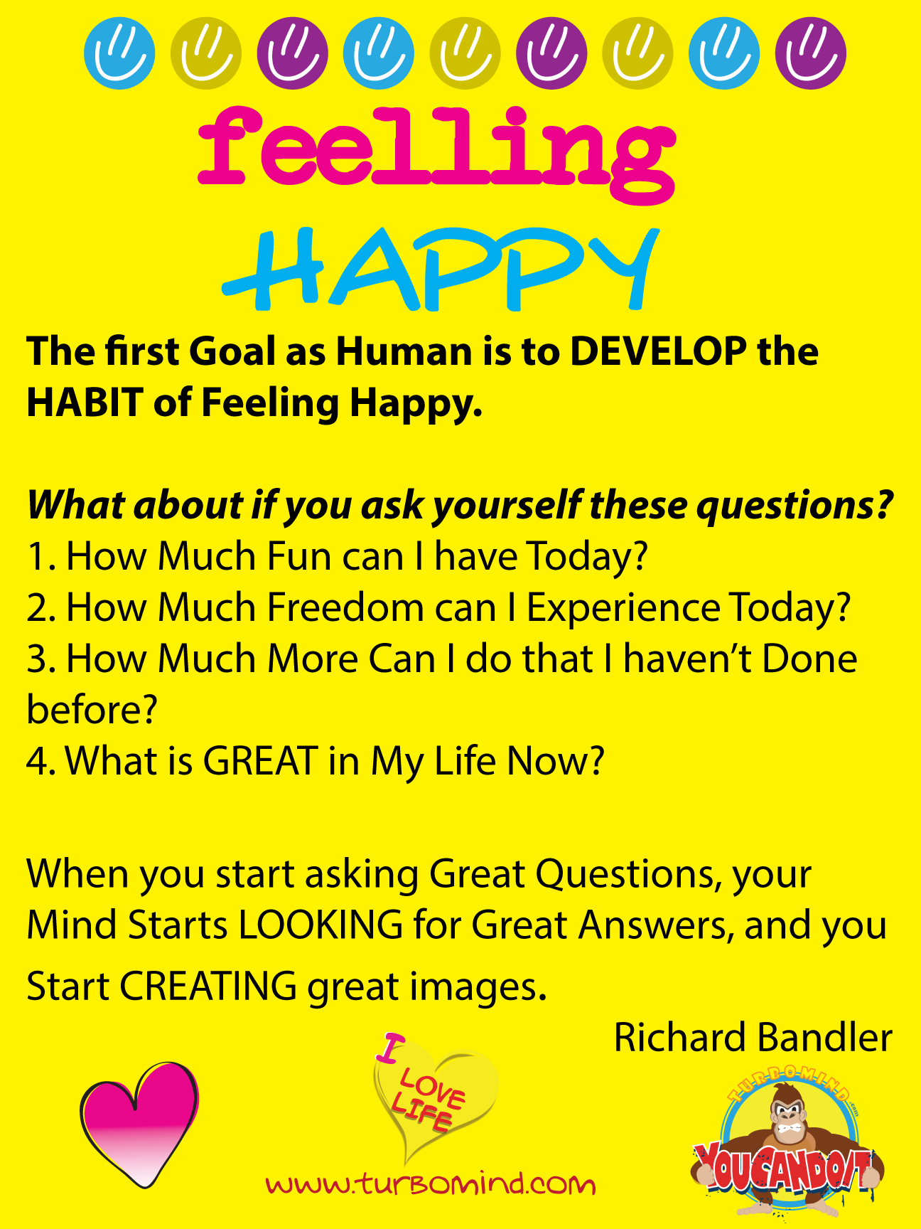 """Get the Life You Want"", by Richard Bandler, TURBOMIND.com Book Summary and Discussion."