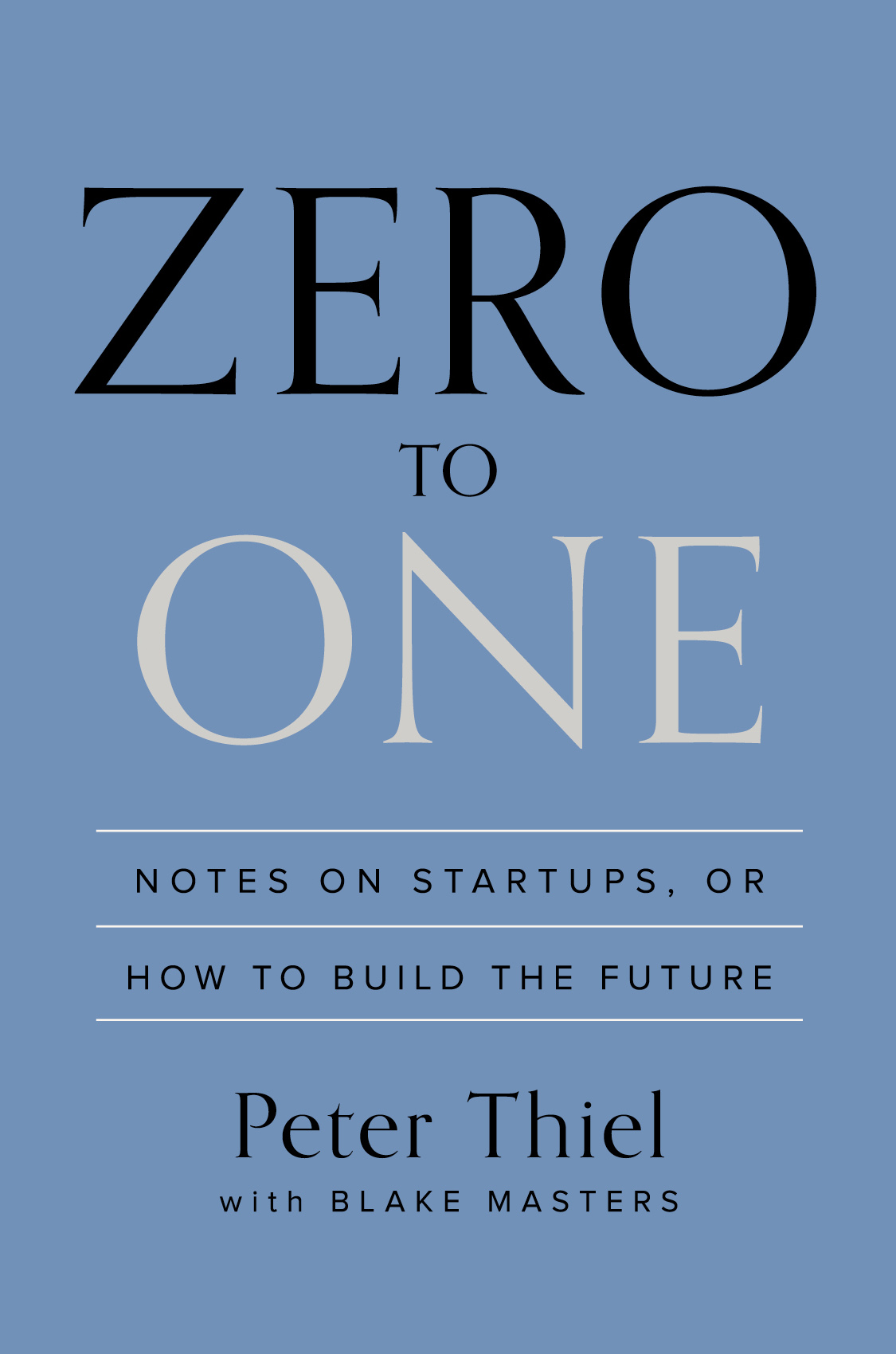 ZERO TO ONE, BY PETER THIEL, Book Summary