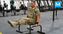 The strongest soldier in the army